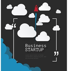 Copyspace for business start up concept vector