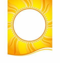 decorative sun vector image