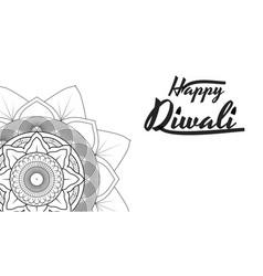 diwali festival greeting card flyer background vector image