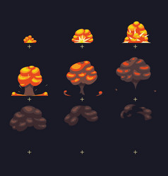 Explosion war game blast fx animation vector