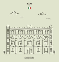 fizzarotti palace in bari italy vector image