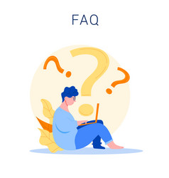 Frequently asked question concept vector