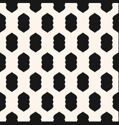 funky modern seamless pattern with curved shapes vector image