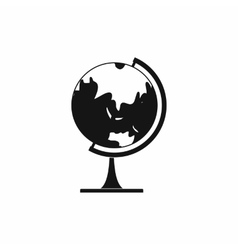 Globe icon in simple style vector