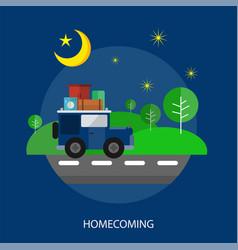 Homecoming conceptual design vector