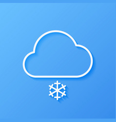 Icon weather cloud with snow vector