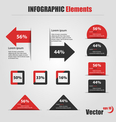 infographic elements information graphics vector image vector image