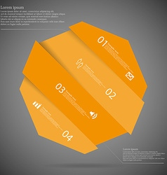 Infographic template with octagon askew divided to vector