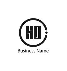 Initial letter hd logo template design vector