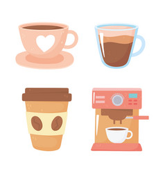 International day coffee maker disposable vector