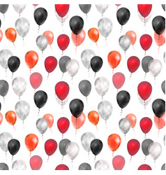 luxury balloons in red silver and black colours vector image