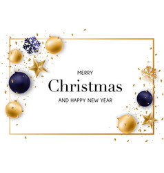 merry christmas and new year background with vector image
