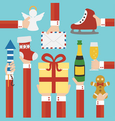 merry christmas and new year concept flat design vector image vector image