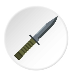 Military combat knife icon flat style vector