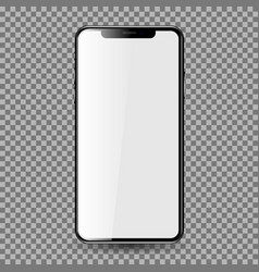 mobil phone with blank screen eps10 vector image