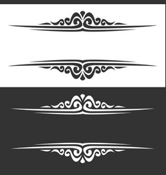 monochrome borders vector image