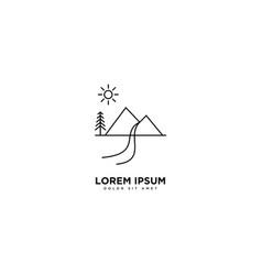 Mountain design line design landscape symbol vector