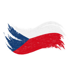 National flag of czech republic designed using vector
