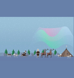 Northern lights concept vector