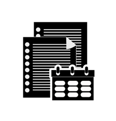 notepad and documents icon vector image
