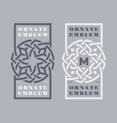 Ornate emblem vector