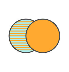 Overlapping symbol color icon vector