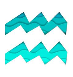 Papercut zodiac signs aquarius paper art vector