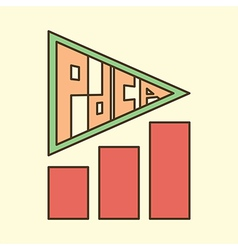 pdca arrow chart vector image
