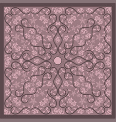 pink paisley bandana image vector image
