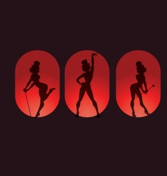 Poster design with silhouette cabaret burlesque vector