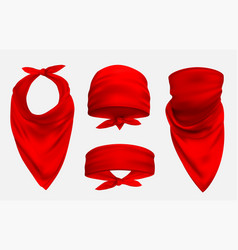 red bandana realistic 3d accessory vector image