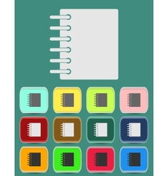 Ring binder calendar notepad - icon vector image