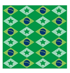 Seamless pattern with brazilian flag vector
