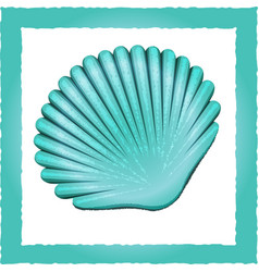 seashell blue vector image