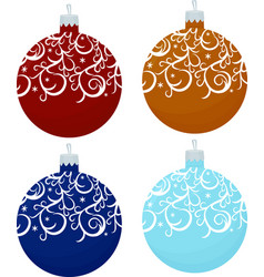 set of decorative christmas balls isolated on vector image vector image