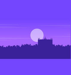 silhouette of london building guidhall scenery vector image