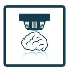 Smoke sensor icon vector