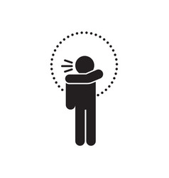 Sneeze or cough into your elbow vector
