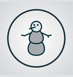snowman icon colored line symbol premium quality vector image