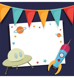 Space party card vector