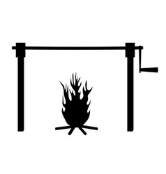 spit roast fire vector image