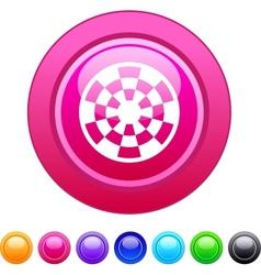 Target circle button vector image