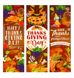 Thanksgiving day greeting card autumn holiday vector