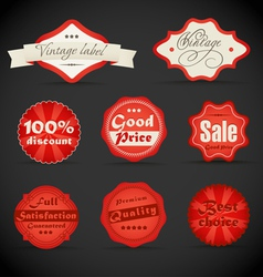 vintage discount shopping labels vector image