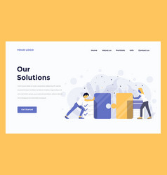 web design flat modern concept - our solutions vector image