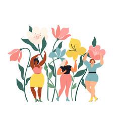women diverse different ethnicity are wonder vector image