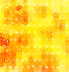 Yellow hexagon background image vector image