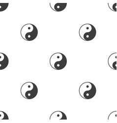 yin yang background vector image