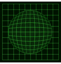 abstract glowing grid on dark background vector image vector image