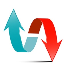 Arrows - Red and Blue Arrow Set on White vector image vector image